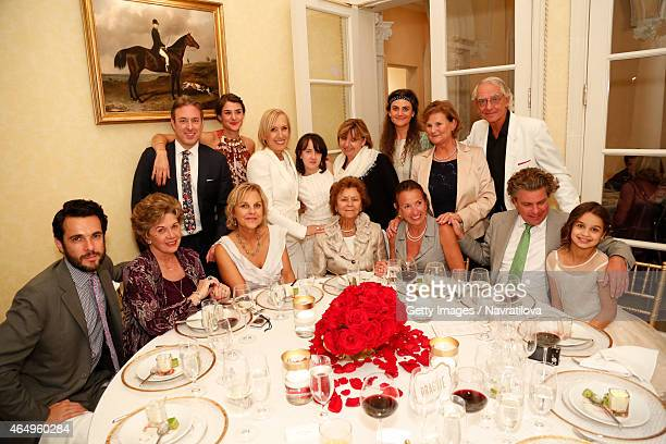 Martina Navratilova and guests attend the Martina Navratilova and Julie Lemigova wedding reception on February 14 2015 in Palm Beach