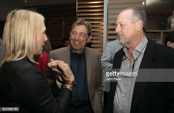 Martina Navratilova and Joe Namath attend the Art Wynwood Tony Goldman Lifetime Artistic Achievement Award Honoring Shepard Fairey at db Moderne...