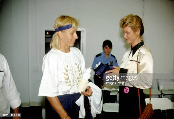 Martina Navratilova and Judy Nelson circa 1989 in New York City
