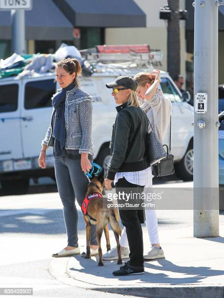 Martina Navratilova and Julia Lemigova are seen on February 14 2017 in Los Angeles California