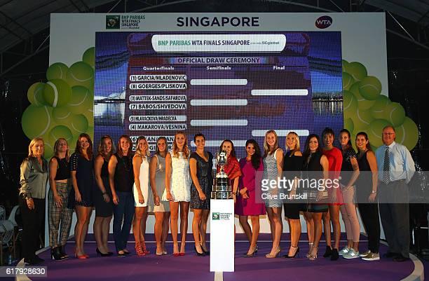 Martina Navratilova Bethanie MattekSands of the United States and Lucie Safarova of Czech Republic Timea Babos of Hungary and Yaroslava Shvedova of...