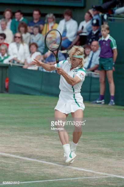 Martina Navratilova during her Ladies Singles Final against Steffi Graf in 1988 Steffi Graf beats current 6 times defending champion Martina...