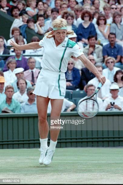 Martina Navratilova during her Ladies Singles Final against Steffi Graf in 1988. Steffi Graf beats current 6 times defending champion Martina...