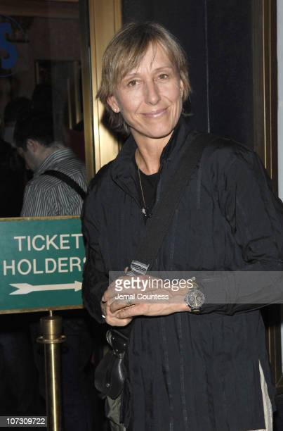 Martina Navratilova during 'Mamma Mia' 5th Anniversary Celebratory Performance Arrivals October 18 2006 at Cadillac Winter Garden Theatre in New York...