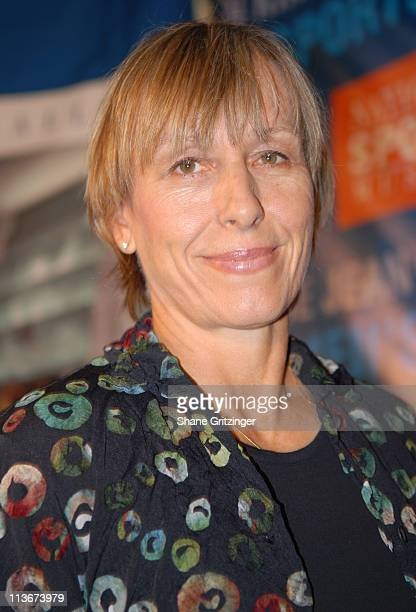 Martina Navratilova during Sports Icons Press Conference Unveiling Plans for the Museum's Billie Jean King International Women's Sports Center at...