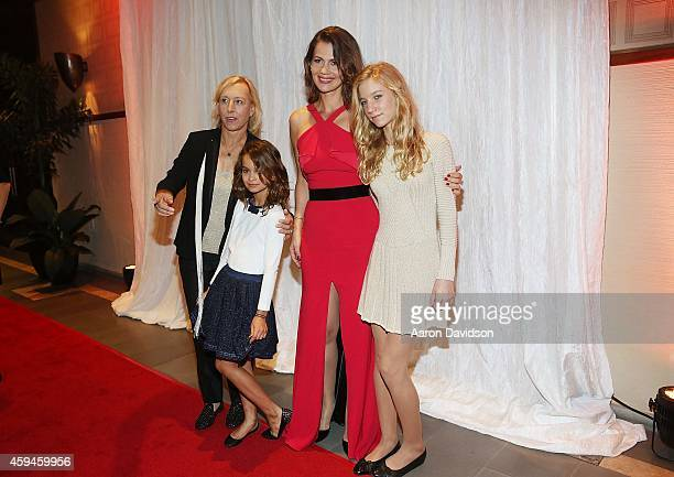Martina Navratilova Emma Lemigova Julia Lemigova and Victoria Lemigova arrive at 25th Annual Chris Evert/Raymond James ProCelebrity Tennis Classic...