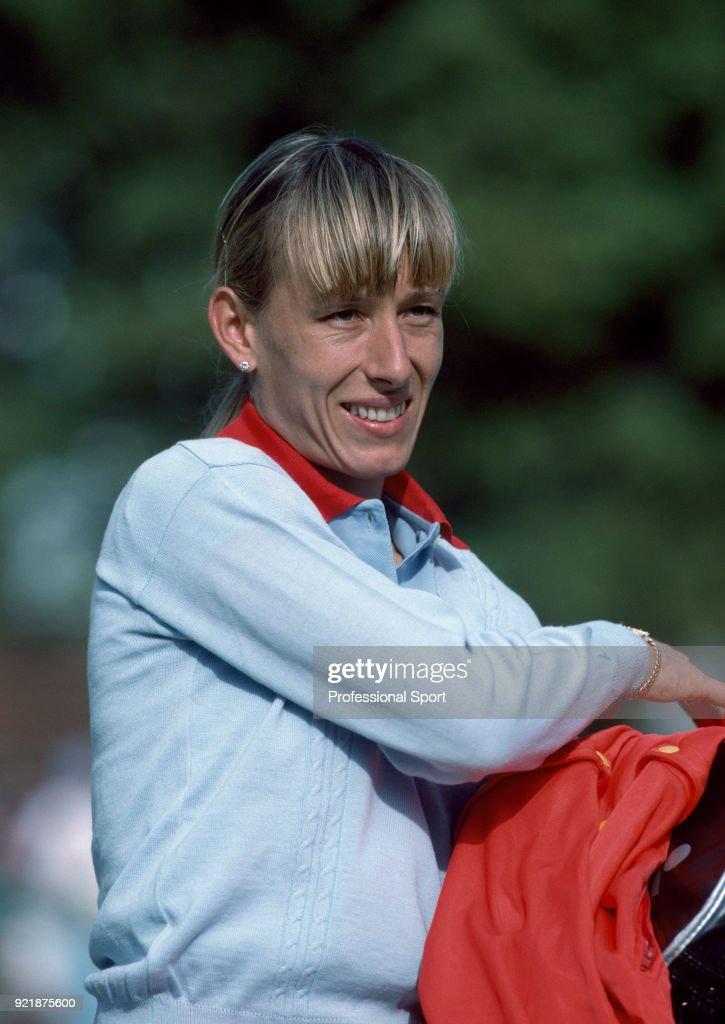 Martina Navratilova of the USA during the BMW Challenge tennis tournament at Devonshire Park circa June, 1983 in Eastbourne, England.