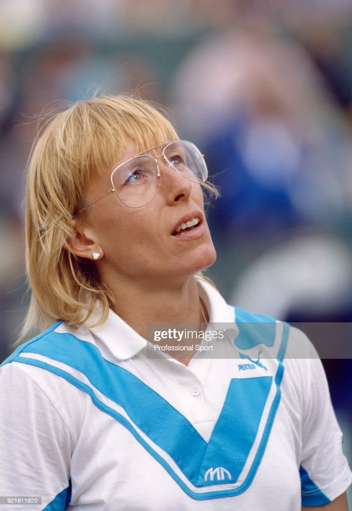 Martina Navratilova of the USA during the French Open Tennis Championships at the Stade Roland Garros circa May 1987 in Paris, France.