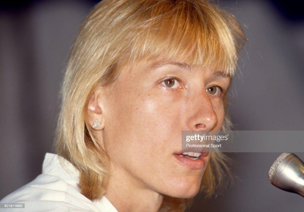 Martina Navratilova of the USA during the Lipton International Players Championships at the Tennis Center at Crandon Park in Key Biscayne, Florida, circa February 1987.
