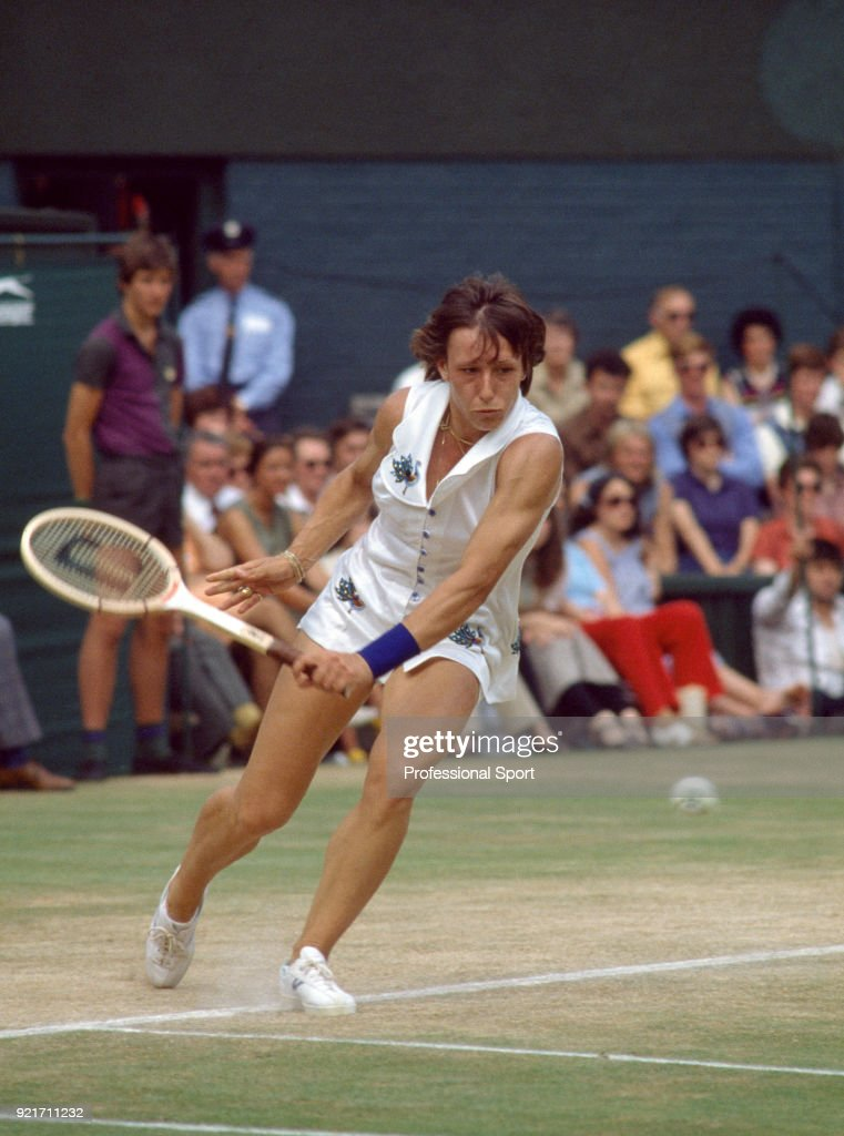 Martina Navratilova of the USA in action during the Wimbledon Lawn Tennis Championships at the All England Lawn Tennis and Croquet Club circa June, 1978 in London, England.