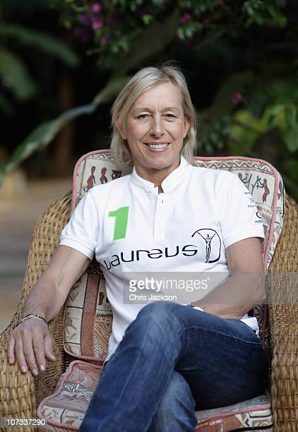 Martina Navratilova poses for a portrait at Kilimanjaro Mountain Resort on December 5 2010 in Arusha Tanzania Martina Navratilova and her team will...