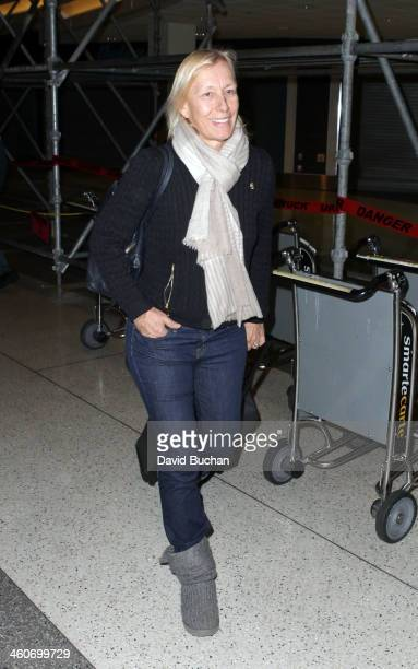 Martina Navratilova spotted at Los Angeles International airport on January 4 2014 in Los Angeles California