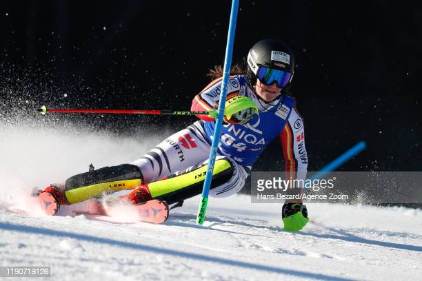 Martina Ostler of Germany competes during the Audi FIS Alpine Ski World Cup Women's Slalom on December 29, 2019 in Lienz Austria.