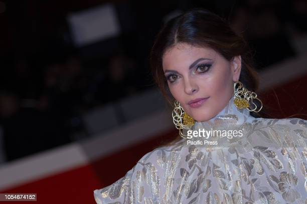 Martina Pensa walks the red carpet ahead of the 'Notti Magiche' screening during the 13th Rome Film Fest