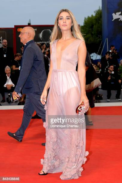 Martina Pinto walks the red carpet ahead of the 'Ammore E Malavita' screening during the 74th Venice Film Festival at Sala Grande on September 6 2017...