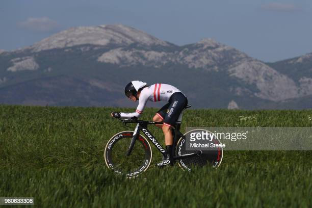 Martina Ritter of Austria and Wiggle High5 during the 31st Women WT EmakumeenBira Stage 2 266km Individual Time Trial from Agurain to Gastetz on May...