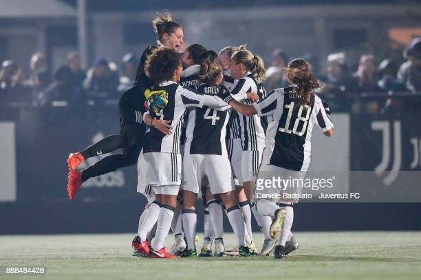 Martina Rosucci celebrates 1-0 goal at Juventus Center Vinovo on December 8, 2017 in Vinovo, Italy.