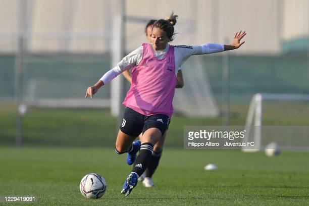 Martina Rosucci during a Juventus Women Training Session at Juventus Center Vinovo on November 02, 2020 in Vinovo, Italy.