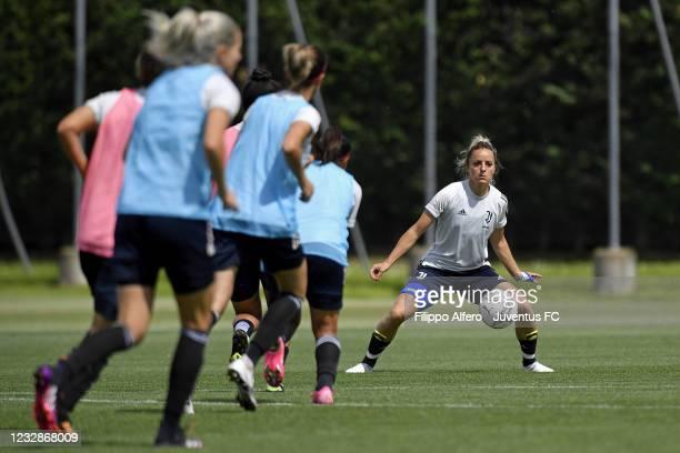 Martina Rosucci during a Juventus Women Training Session at Juventus Center Vinovo on May 13, 2021 in Vinovo, Italy.