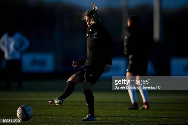 Martina Rosucci during a Juventus women training session at Juventus Center Vinovo on December 28 2017 in Vinovo Italy