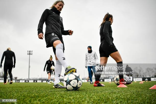 Martina Rosucci during a Juventus Women training session on February 22 2018 in Vinovo Italy
