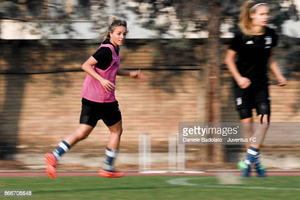 Martina Rosucci during a Juventus Women training session on October 26 2017 in Turin Italy