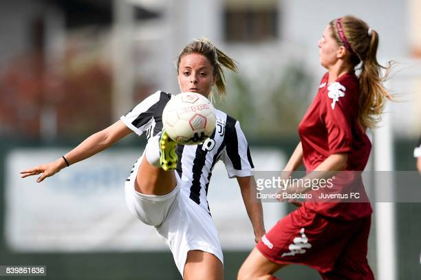 Martina Rosucci during the Coppa Italia match between Juventus Women and Torino Women on August 27, 2017 in Turin, Italy.