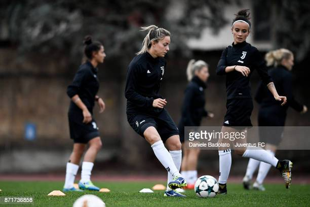 Martina Rosucci in action during the Juventus women training session on November 8 2017 in Turin Italy