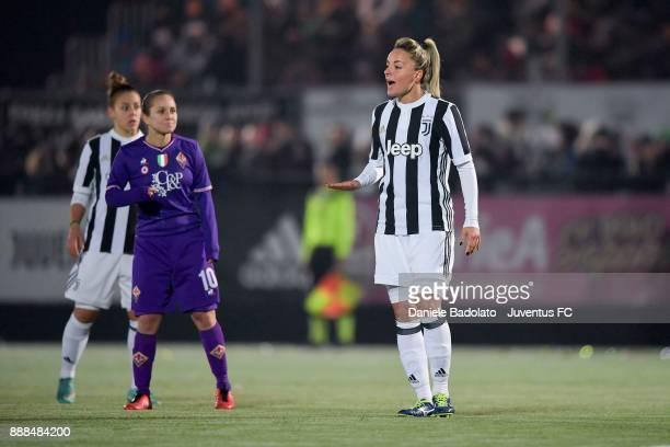 Martina Rosucci in action durng the Juventus Women v Fiorentina match at Juventus Center Vinovo on December 8, 2017 in Vinovo, Italy.