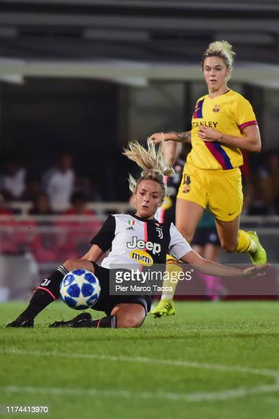 Martina Rosucci of FC Juventus Women in action during the Women's Champions League round of 32 match between Juventus and Barcelona at Stadio...