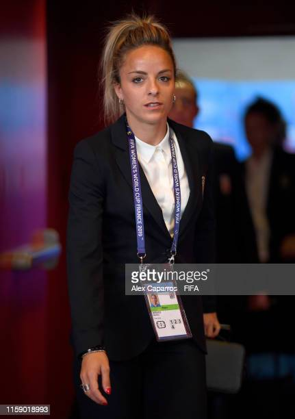 Martina Rosucci of Italy arrives at the stadium prior to the 2019 FIFA Women's World Cup France Quarter Final match between Italy and Netherlands at...