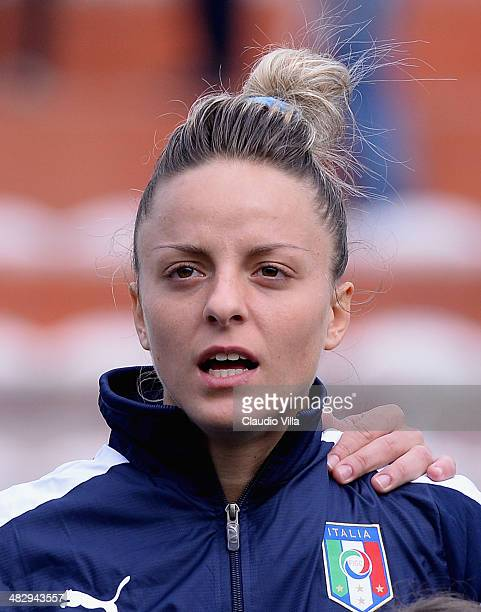 Martina Rosucci of Italy before playing the FIFA Women's World Cup 2015 qualifier between Italy and Spain at Stadio Romeo Menti on April 5, 2014 in...