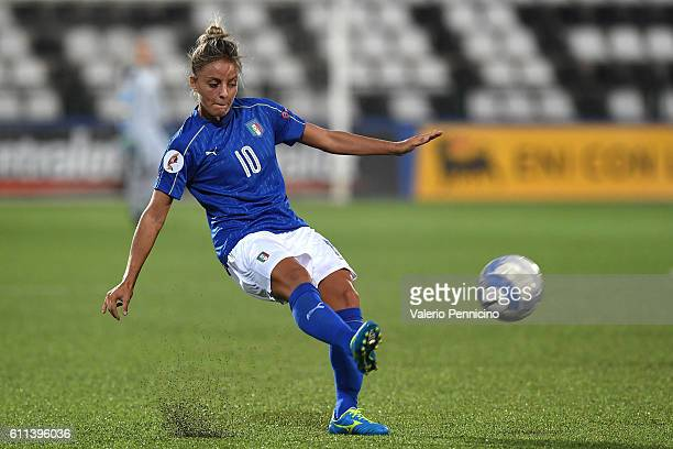 Martina Rosucci of Italy in action during the UEFA Women's Euro 2017 Qualifier Group 6 match between Italy and Czech Republic at Stadio Silvio Piola...