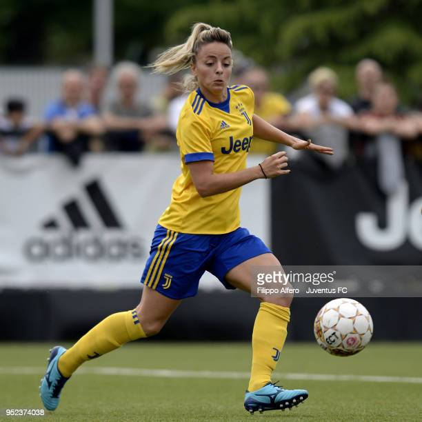 Martina Rosucci of Juventus Women during the serie A match between Juventus Women and Ravenna Women on April 28 2018 in Vinovo Italy