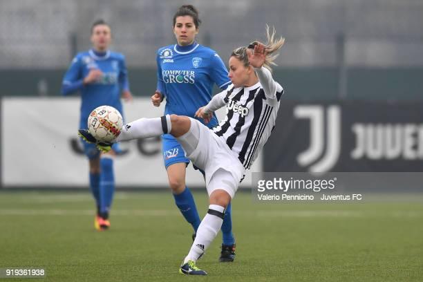 Martina Rosucci of Juventus Women in action during the match between Juventus Women and Empoli Ladies at Juventus Center Vinovo on February 17 2018...