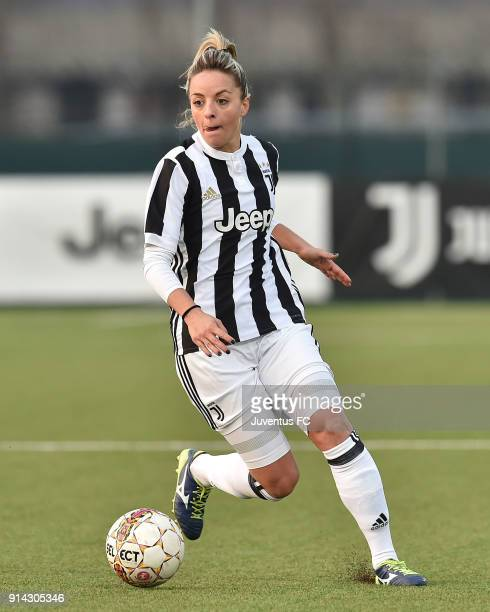 Martina Rosucci of Juventus Women in action during the serie A match between Juventus Women and Mozzanica Women at Juventus Center Vinovo on February...