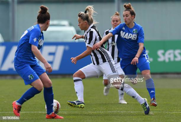 Martina Rosucci of Juventus Women in action during the serie A match between Sassuolo Femminile and Juventus Women at Enzo Ricci Stadium on March 25,...