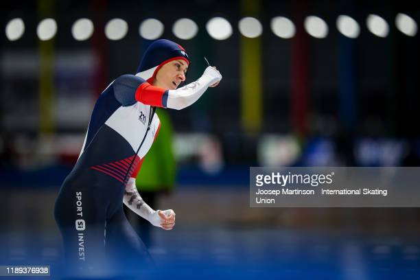 Martina Sablikova of Czech Republic competes in the Ladies 3000m during ISU World Cup Speed Skating at Tomaszow Mazoviecki Ice Arena on November 22,...