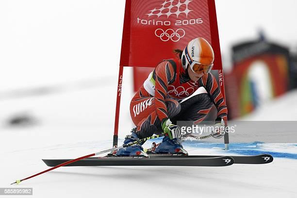 Martina Schild SUI 2 Frauen Abfahrt Damen am 15 2 2006 olympische Winterspiele in Turin 2006 olympic winter games in torino 2006