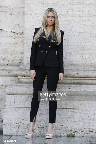 Martina Stella attends a photocall for the Netflix Original Movie Natale A 5 Stelle at The Space Cinema Moderno on December 4 2018 in Rome Italy