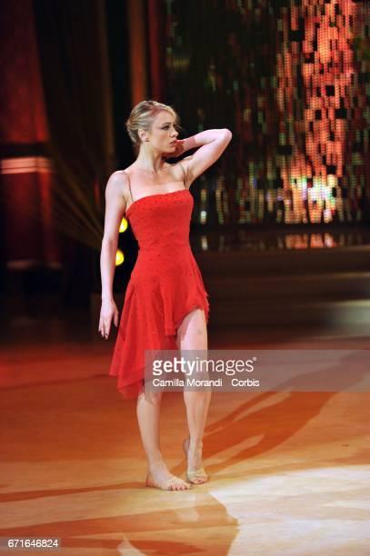 Martina Stella attends Ballando Con Le Stelle Tv Show on April 22 2017 in Rome Italy