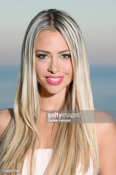Martina Stella attends the Nations Award 2019 cocktail at Hotel San Pietro on July 21 2019 in Taormina Italy