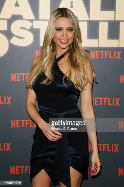 Martina Stella attends the World Premiere of the Netflix Original Movie Natale A 5 Stelle at The Space Moderno on December 4 2018 in Rome Italy