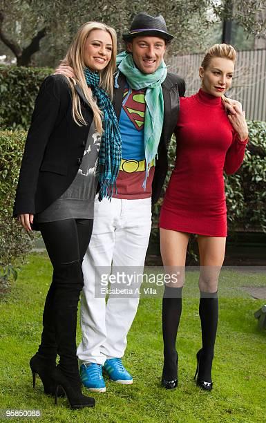 Martina Stella Francesco Facchinetti and Alessandra Barzaghi attend a photocall for the Italian TV show 'Il Piu Grande' at RAI Viale Mazzini on...
