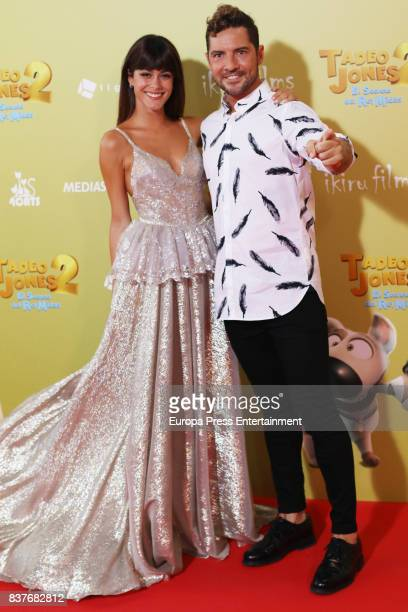 Martina Stoessel and David Bisbal attend during 'Tadeo Jones 2 El Secreto Del Rey Midas' premiere at Kinepolis cinema on August 22 2017 in Madrid...