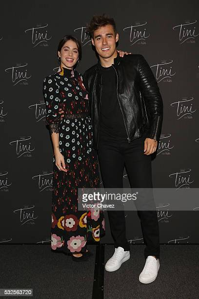 Martina Stoessel and Jorge Blanco attend a photocall and press conference to promote the film 'Tini El gran cambio de Violetta' at W Hotel Mexico...