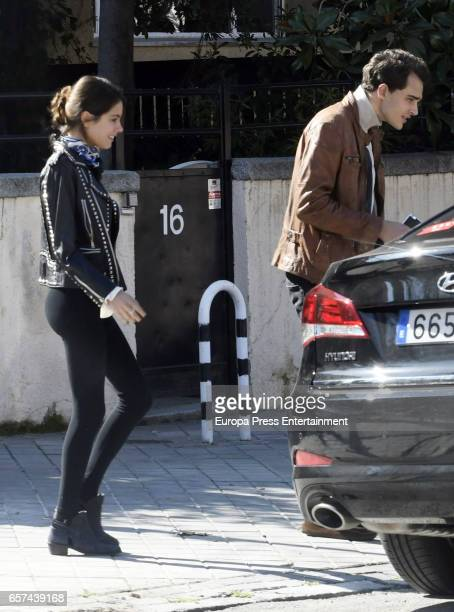 Martina Stoessel and Pepe Barroso jr are seen on February 17 2017 in Madrid Spain