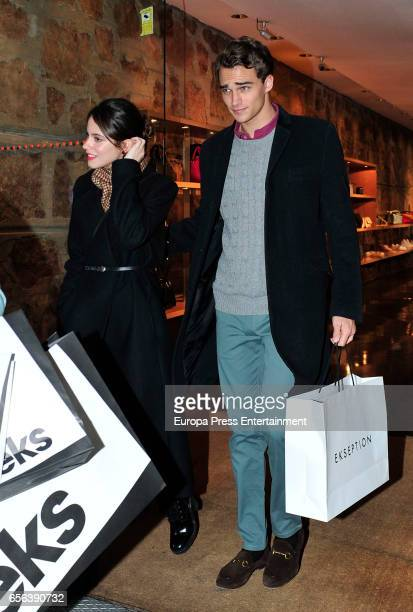 Martina Stoessel and Pepe Barroso jr go for shopping the day of Martina's 20th's birthday on March 21 2017 in Madrid Spain