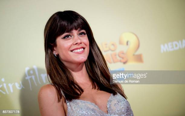 Martina Stoessel attends the 'Tadeo Jones 2 El Secreto Del Rey Midas' Madrid Premiere on August 22 2017 in Madrid Spain