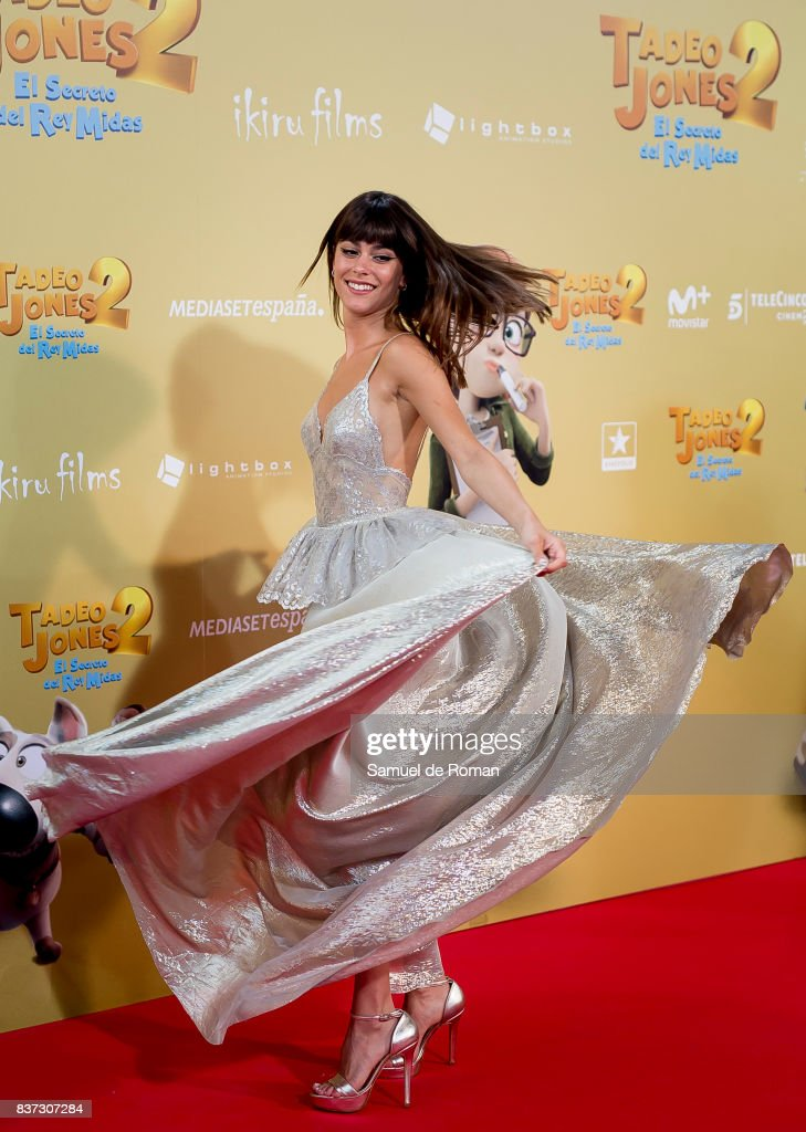 Martina Stoessel attends the 'Tadeo Jones 2. El Secreto Del Rey Midas' Madrid Premiere on August 22, 2017 in Madrid, Spain.